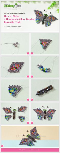Detailed Instructions on How to Make a Handmade Glass Beaded Butterfly Craft from LC.Pandahall.com