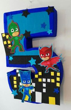 Pj by aldimyshop Lego Batman Party, Superman Birthday Party, Lego Birthday, 1st Birthday Parties, Pj Masks Pinata, Festa Pj Masks, Decoracion Pj Mask, Pjmask Party, Pj Masks Birthday Cake