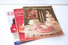 Three vintage Cake Decorating by PacificBlueBooks on Etsy