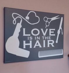 Hey, I found this really awesome Etsy listing at https://www.etsy.com/listing/227963237/love-is-in-the-hair-painted-canvas-dark