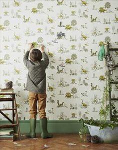 Magnetic Yellow Green Dinosaur Wallpaper