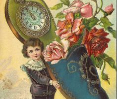 Happy New Year Bonne Année c.1910  Greeting by StarPower99 on Etsy, $2.80