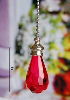 2 of Gorgeous Red Crystal Rain Drop Ceiling Lighting Fan Pulls Blessinglight USA http://www.amazon.com/dp/B004WLI1NG/ref=cm_sw_r_pi_dp_p5jYtb0T4YXZ65VG