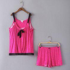 C16 иностранных женщин Цветочные Спагетти Топ + брюки удобные модальных пижамы костюмы костюм