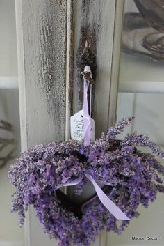 A Lavender wreath we place in every room or a bouquet of lavender on the bed. Unless allergic to flowers then we leave candy or a few other goodies! Lavender Cottage, French Lavender, Lavender Blue, Lavender Fields, Lavender Flowers, Lavander, Lavender Room, Lavender Scent, Lavenders Blue Dilly Dilly