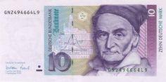 german currency | 1777-1855 Carl Friedrich Gauss on German currency introduced in 1991 ...