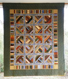 Very Easy Quilt Patterns | Sonja's Windows Pattern by QuiltDesignsbyCandac on Etsy