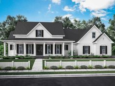 Farmhouse House Plan Home Plan with 2282 Square Feet and 3 Bedrooms from Dream Home Source | House Plan Code DHSW078040