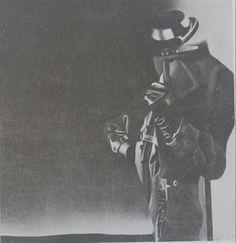 Zekai Ormancı: Figür. Tuval uzerine akrilik. 100×100 cm. Istanbul resim ve heykel muzesi