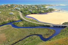 Aerial view of Rooi-Els (a small seaside village 20 minutes from the Helderberg - along Clarence Drive) in Western Cape, South Africa. The Beautiful Country, Beautiful Places, Places To Travel, Places To Visit, Provinces Of South Africa, Seaside Village, Countries Of The World, Aerial View, Wonders Of The World