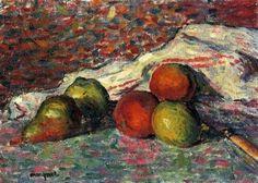 Fruit, Knife And Napkin - Albert Marquet
