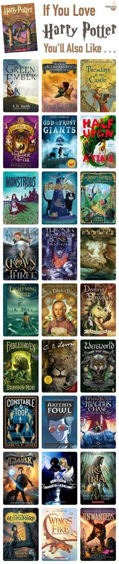 If you love Harry Potter, you'll also like these fantasy magical chapter books!!