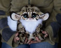 Santini, a girl from Moscow, Russia, creates these ultra-realistic fantasy animal dolls. The creatures are a mix of creepy, cute and amazing. The creatures are made using different type… Fantasy Animal, Fantasy Creatures, Mythical Creatures, Animals And Pets, Baby Animals, Funny Animals, Cute Animals, Cute Creatures, Beautiful Creatures