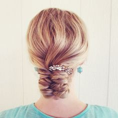 A loose infinity braided bun