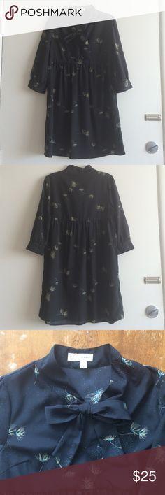 Black dress in dead sea neck