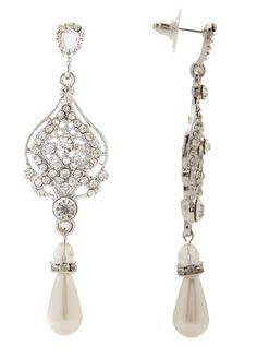 Vintage Victorian Swarovski Earrings by Bella Krystal Crystal Bridal Wedding | eBay
