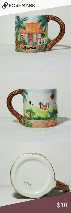 Aruba Travel Souvenir Coffee Mug Brand new handmade beautiful Aruba bright colorful coffee mug. Recommended hand washed good not put in microwave or dishwasher. AGIFTCORP Other