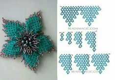 Seed bead jewelry Russian masterclass diagrams these flower components ~ Seed Bead Tutorials Discovred by : Linda Linebaugh Beaded Flowers Patterns, Seed Bead Patterns, Beading Patterns Free, Beaded Jewelry Patterns, Seed Bead Flowers, French Beaded Flowers, Beaded Crafts, Beaded Ornaments, Bead Jewellery