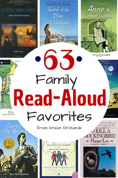 Reading aloud to your children is the single best way to influence them for good. But you need the best read aloud books! Here are 63 favorites from our home, Orison Orchards, to yours. They will delight both boys and girls of all ages! Read Aloud Books, Reading Aloud, Good Books, Reading Lists, Big Books, Books For Boys, Childrens Books, Teen Books, Homeschool Books