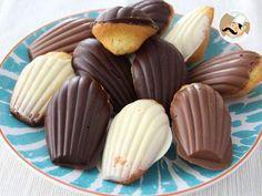 Recette Dessert : Madeleines au chocolat pas à pas en vidéo par Ptitchef_officiel
