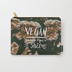 6a9ee64033 VEGAN because I give a shit - virágos szütyő/pénztárca – VegaNinja Webshop
