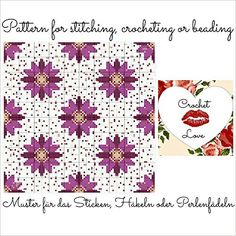 Stars and Dots: Pattern for stitching, crocheting or beading - Muster für das Sticken, Häkeln oder Perlenfädeln