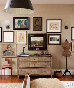 Guest bedroom in Ellen & Portia's home; Arch Digest
