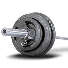Bodymax 100kg Olympic Cast Tri-Grip Barbell Kit with 6ft bar - Weight Kits - Weights at Powerhouse Fitness