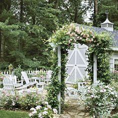 Garden invites visitors to linger.