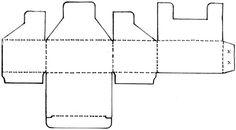 Caixinha de papel para miudezas (com molde)