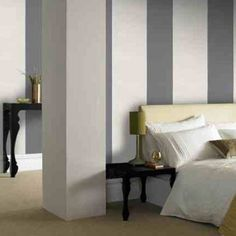 Glitzu0027 Designer Striped Wallpaper In Cre... Stripe WallsKitchen Living  RoomsLiving ... Part 97