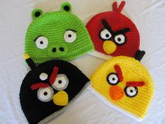 Angry Bird Crochet Pattern Bird Hats