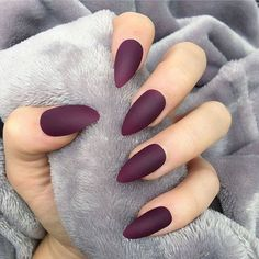 Art False Nails French Manicure Matte Full Cover Medium Nail Art Tips - Cute Nails Club Matte Nail Design Ideas per Grey Matte Nails With Diamonds unlike A Nail Care & Spa Ocoee Fl Grey Matte Nails, Matte Acrylic Nails, Matte Nail Polish, Red Nails, Hair And Nails, Matte Red, Soft Pink Nails, Gelish Nails, Brown Nails