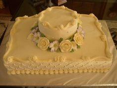 Wedding Sheet Cake sheet cake wedding buttercream qilted with pearls Torta nuziale Torta nuziale torta nuziale crema con perle Wedding Sheet Cakes, Cake Wedding, Wedding Dinner, Rustic Wedding, Sheet Cake Designs, Rectangle Cake, Square Cakes, Square Cake Design, Small Cake
