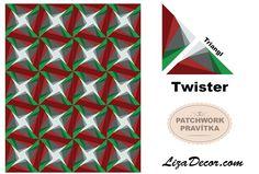 #patchwork #twister #triangl #square #tutorial #technika #vzory #návody