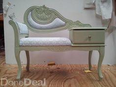 Refurbished hardwood phone hall table