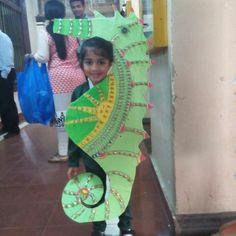 Zena my kid as sea horse