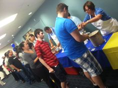 Employees were lining up down the hall to get their scoop! - July 2012