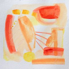"""""""Sun Rays"""" by Way Way Allen, 7 x 7.5, acrylic on deckled edge oil paper, $75"""