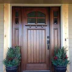 19 Ideas modern front door entrance wood craftsman style for 2019 Best Front Doors, Wood Front Doors, Modern Front Door, Front Door Entrance, House Front Door, Barn Doors, Wooden Doors, Sliding Doors, Front Porch