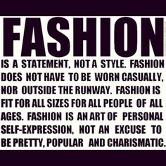My Friday Fashion Quote