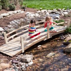 Coral Coast Harrison 12-ft. Cedar Garden Bridge - Garden Bridges at Hayneedle