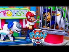 PAW PATROL Launch N Roll Adventure Bay LOOKOUT Tower Track Set Ryder Rubble Toy Unboxing Review - YouTube