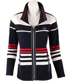 Sportive #Sweatjacke Damen Sweatshirts, Trends, Electric Blue, Motorcycle Jacket, Modern, Dress Up, Skirts, Jackets, Closet