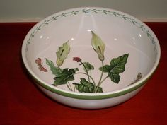 "MIKASA STUDIO NOVA Garden Bloom LARGE 11"" Salad Pasta Serving Bowl Y2372 #StudioNovabyMikasa"