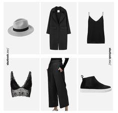 Bei den ganzen Camel, Beige, Nude, Khaki, Olive und Rosa Trends - ein fast All Black Everything! Hier entdecken und shoppen: http://sturbock.me/tmy