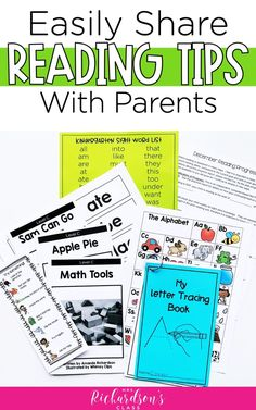 If you have struggling readers in your kindergarten classroom, this post is for you! Learn how to easily share reading tips with your kindergarten parents with these helpful ideas, resources, and free printables. #Kindergarten #Literacy #Freebie #TeacherTips