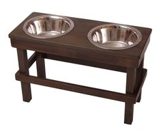 "Elevated Pet Feeder (17"" tall) with Double Bowls for Large sized Dogs, Goats, Pigs"