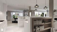 Średnia otwarta kuchnia w kształcie litery u jednorzędowa z wyspą, styl klasyczny - zdjęcie od Agata Hann Architektura Wnętrz