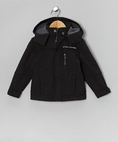 Take a look at this Black Soft-Shell Hooded Jacket - Toddler & Boys by Urban Republic on #zulily today! DYT T4 boy